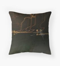 Energy Ribbons Cemetery at Night Throw Pillow