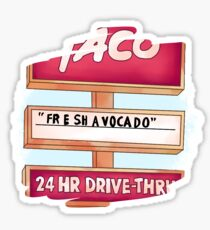 """FR E SH A VOCA DO"" vine Sticker"