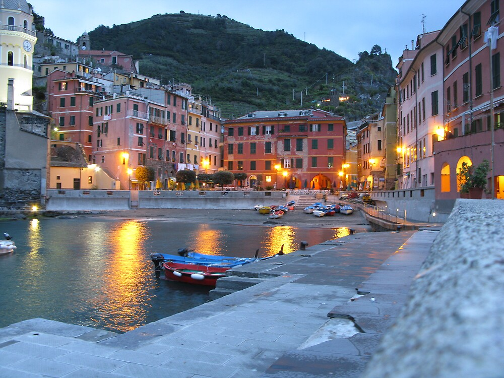 Peace & Quiet in Vernazza by Lang Cheung