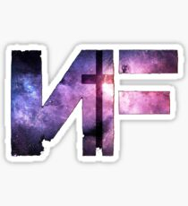 nf rapper galaxy logo Sticker