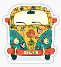 The hippie van. Sticker