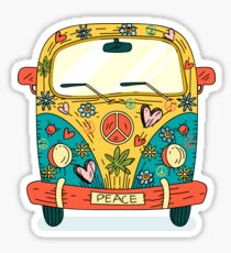 Der Hippie Van Sticker