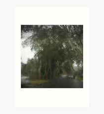 Through The Wet Windscreen Art Print