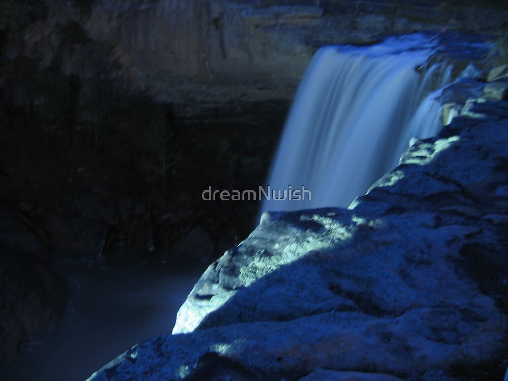 """""""Waterfall in Shades of Blue"""" by dreamNwish"""