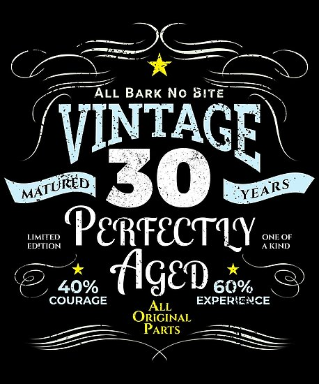 Funny Vintage 30th Birthday Gift By Blazesavings