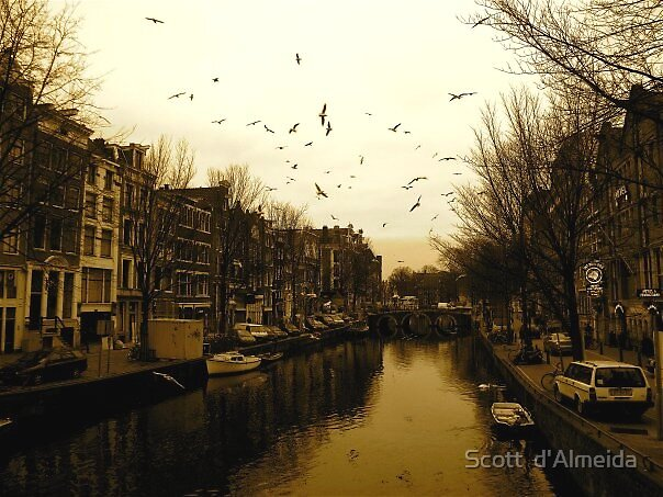 AMSTERDAM  DARK TIME by Scott  d'Almeida