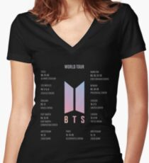 BTS Love Yourself Weltreise Merch Tailliertes T-Shirt mit V-Ausschnitt