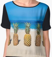 Vintage Pineapple Horizons Chiffon Top