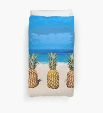 Vintage Pineapple Horizons Duvet Cover