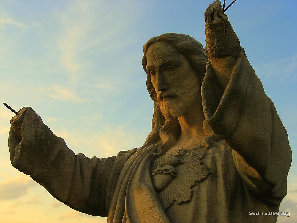 Jesus Rebarhands by sean sweeney