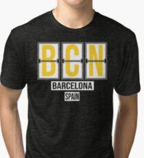 BCN - Barcelona Airport Code Souvenir or Gift Shirt Tri-blend T-Shirt
