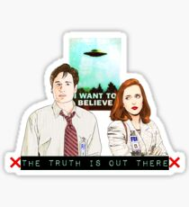 X files the truth is out there I want to believe by Mimie ( more 70 designs XFiles in my shop) Sticker