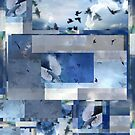 Composition With Birds in Flight and Clouds #3 by Ivana Redwine