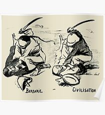 Barbarity vs Civilisation, by René Georges Hermann-Paul, 1899 Poster
