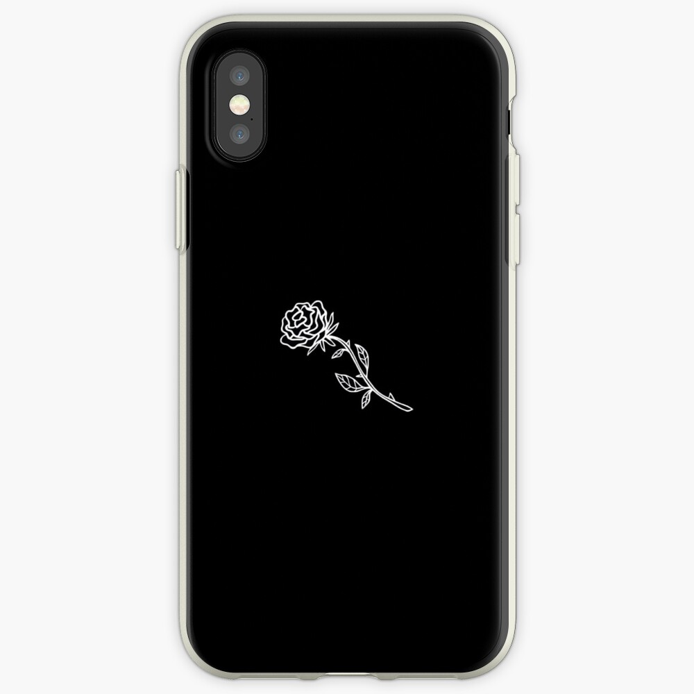 Schwarz-Weiß-Rose-Cover iPhone-Hüllen & Cover