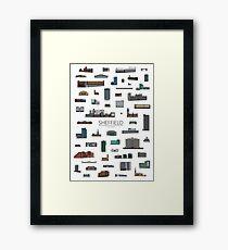 Sheffield Icons Framed Print
