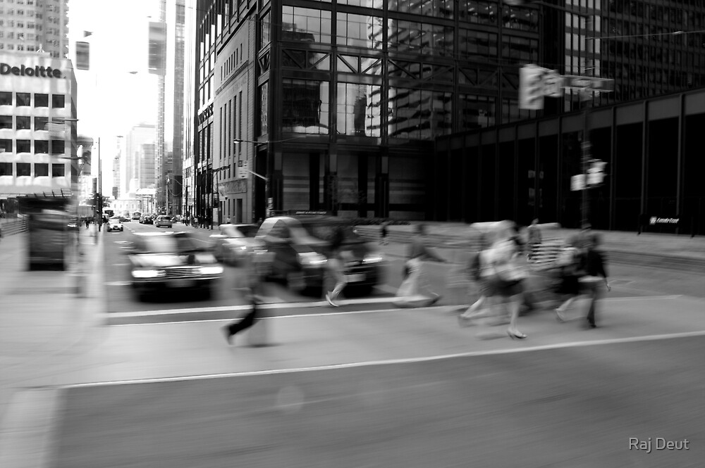 Watching the world pass by by Raj Deut