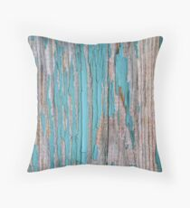 Shabby rustic weathered wood turquoise Floor Pillow
