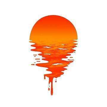 Drippy Sunset by goodgoodgoofboy