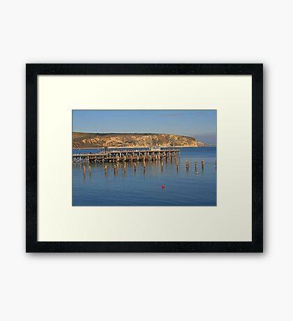 Swanage Pier & Ballard Down Framed Print