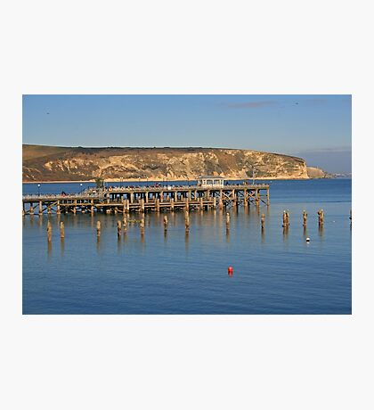 Swanage Pier & Ballard Down Photographic Print