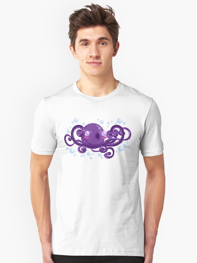 A is for Octopus Unisex T-Shirt Front