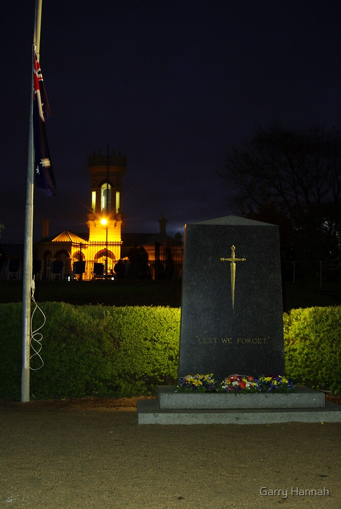 Lest we forget by Garry Hannah