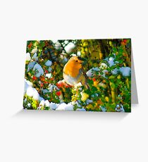 Robin in his element Greeting Card