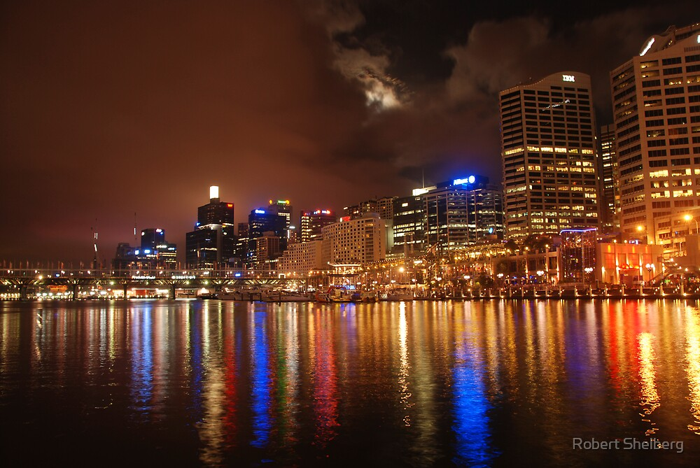 A Cloudy Night a Darling Harbour by Robert Shelberg