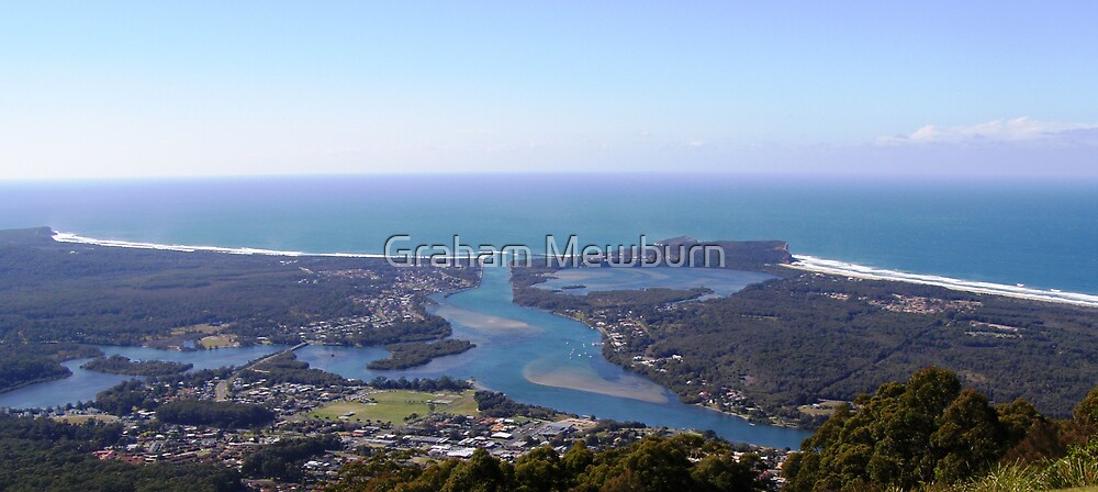 View of Camden Haven Inlet from North Brother by Graham Mewburn