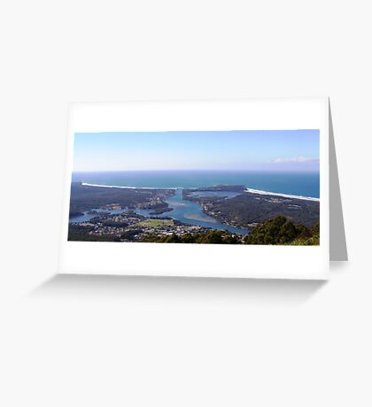 View of Camden Haven Inlet from North Brother Greeting Card