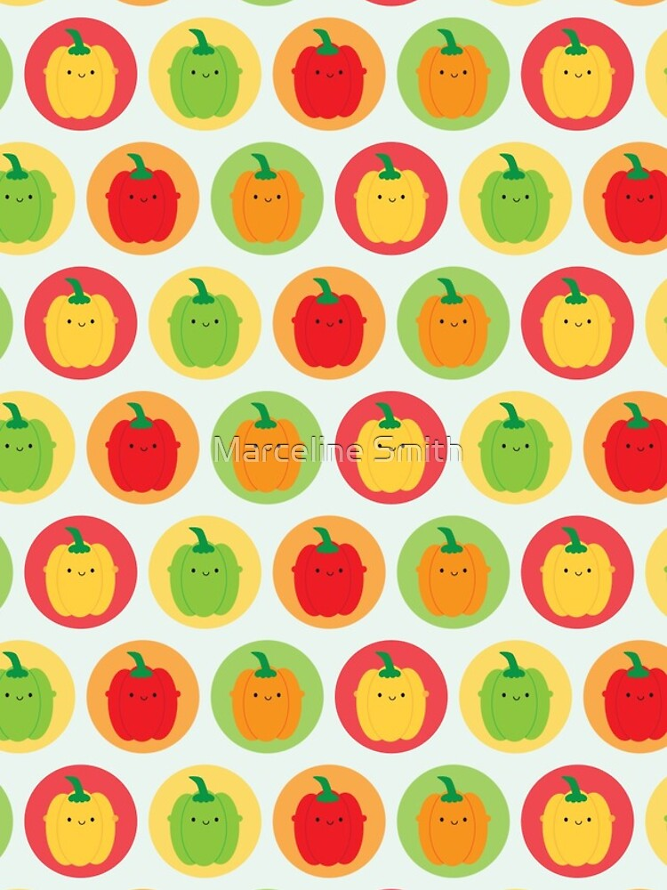 Kawaii Bell Peppers by marcelinesmith