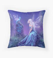 Luminescent Fairy & Dragon Art Throw Pillow