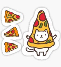 Cute pizza pattern. Sticker