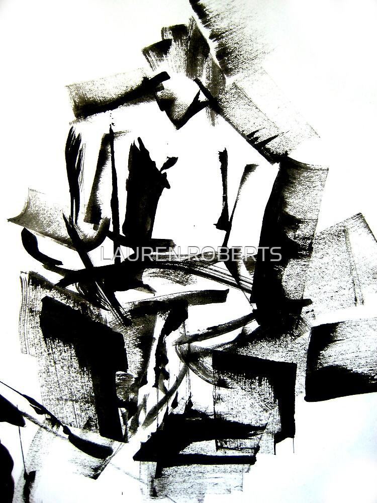 Braque Guitar Man by LAUREN ROBERTS