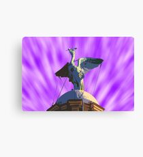 Liver Bird Purple Sky Canvas Print