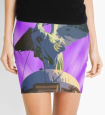 Liver Bird Purple Sky Mini Skirt