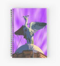 Liver Bird Purple Sky Spiral Notebook
