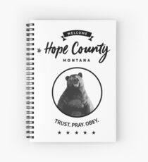 Welcome To Hope County - Cheeseburger Spiral Notebook