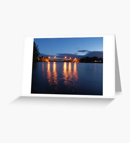 Dumaresq Bridge on Manning  Greeting Card