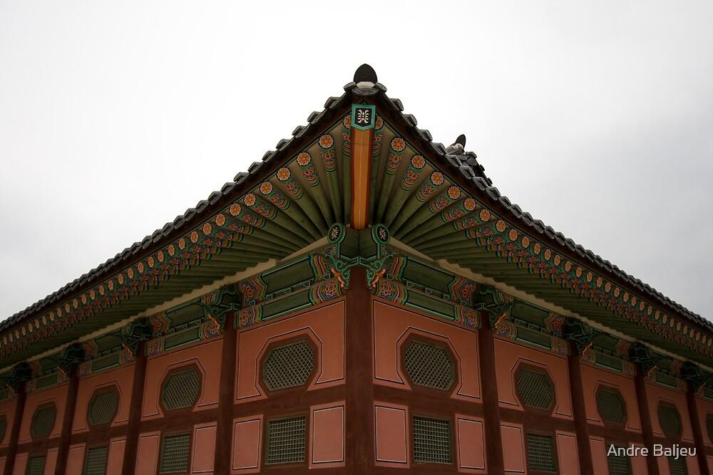 Corner of Kyeoungbok Palace Seoul  by Andre Baljeu