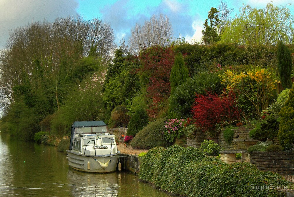 Back Yard Mooring 2 - Coventry Canal by SimplyScene