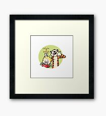 Funny Friends Framed Print