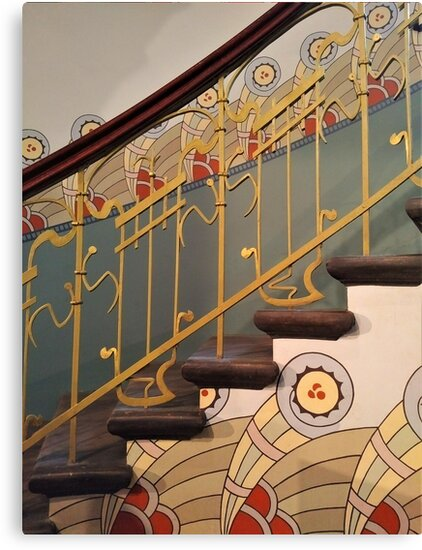 Art Nouveau spiral staircase by TalBright