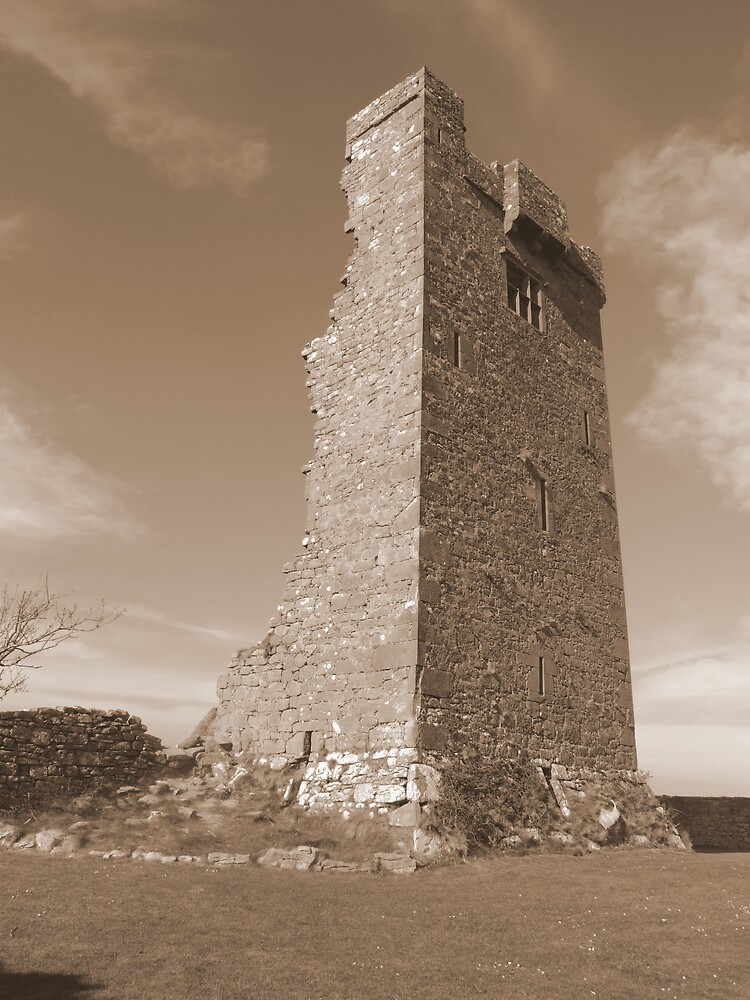 County Clare castle ruins by John Quinn