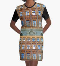Riga Art Nouveau Architecture Graphic T-Shirt Dress