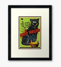 Black Cat Retro Vintage Movie  Framed Print
