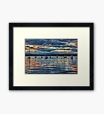 LAKES Framed Print