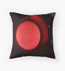 Red traffic light Throw Pillow