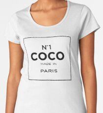 coco, chanel inspired art, chanel pillow, chanel  Women's Premium T-Shirt